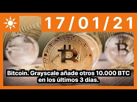 Bitcoin. Grayscale añade otros 10.000 BTC en los últimos 3 días.