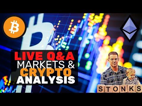 Live Crypto Markets Analysis! No Jordan CTM Hangout. Cheap Sub!
