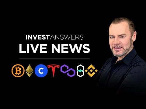 Crypto News Live: Bitcoin, ETH, Polygon, Tesla, HUT8, Coinbase, ARK and more