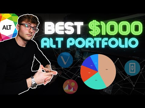 Best Crypto AltCoin Portfolio Using $1000 | Get Rich With Crypto