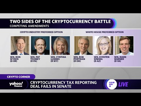 Cryptocurrency tax reporting deal fails in Senate