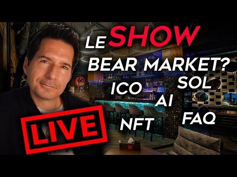 ⚠️ LIVE IMMINENT! ⚠️ Bear Market Ou correction? NFT – ICO – AI – FAQ