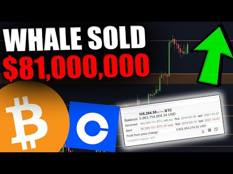 BITCOIN IS BULLISH! SO WHY DID THE BIGGEST WHALE JUST SELL ON COINBASE?